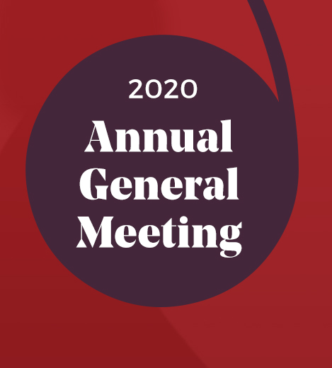 "Poster that says ""2020 Annual General Meeting"""""