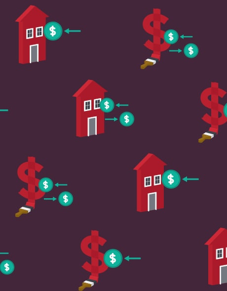 Illustration of a house with a dollar sign